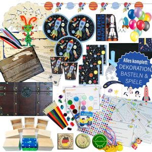 Kindergeburtstag-Box Weltall Party All-in-one Box