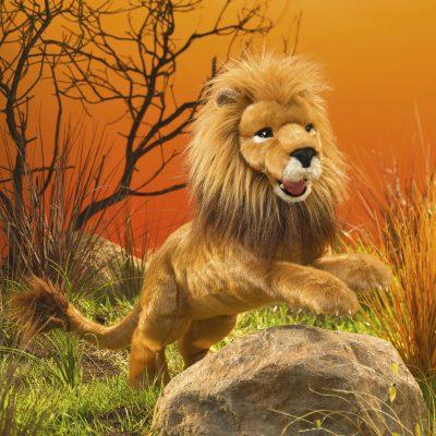 Löwe Handpuppe groß