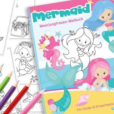 Meerjungfrau Malbuch Download