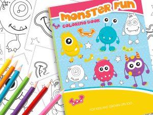 Malbuch Monster Spaß