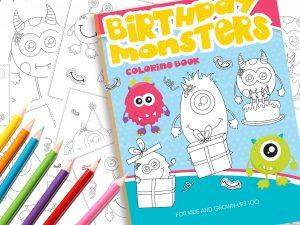 Malbuch Monster Geburtstag