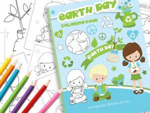 Malbuch Tag der Erde