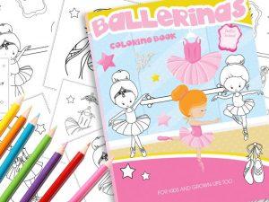 Malbuch Ballerina zum Download