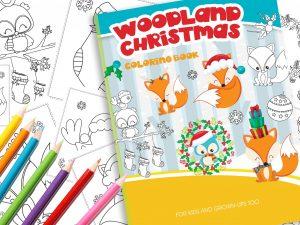 Malbuch Waldtiere Weihnachten