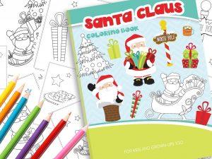 Malbuch Weihnachten mit dem Weihnachtsmann