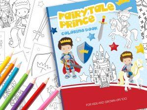 Märchen Malbuch Prinz Prinzessin Schloss
