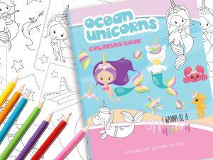 Malbuch Einhorn Meerjungfrau zum Download